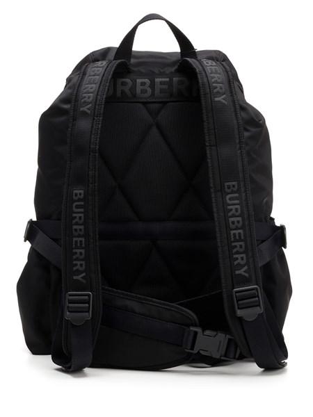 Burberry Large Wilfin Printed Logo Nylon Backpack In Black