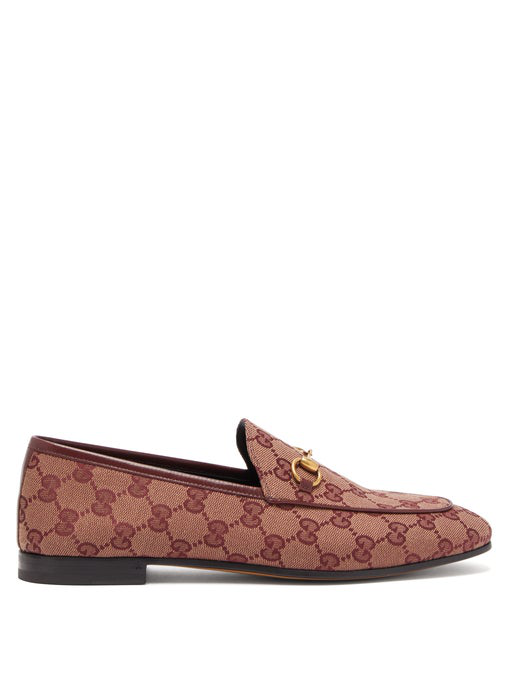 0ef6fd787 Gucci New Jordaan Canvas Loafers In Red | ModeSens