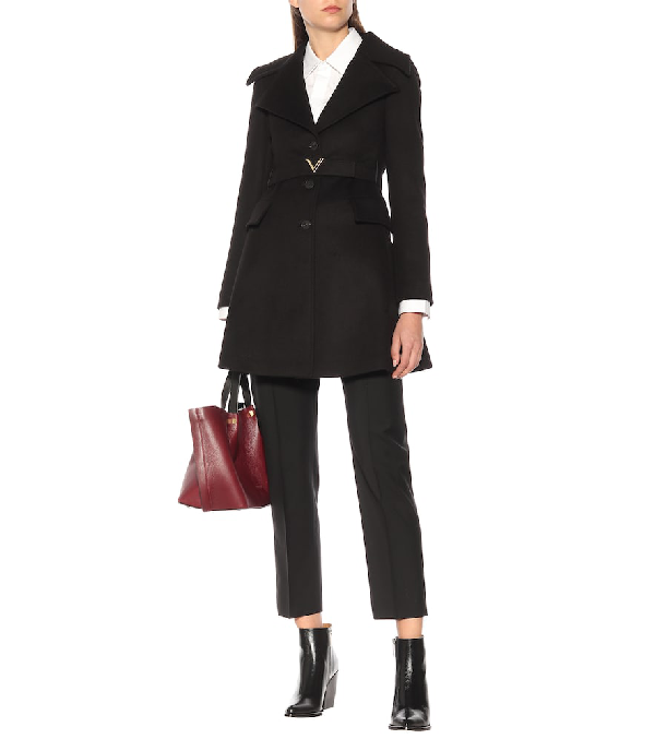 VALENTINO WOOL AND CASHMERE COAT,P00395489