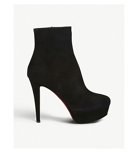 new styles 7487d 8728e Christian Louboutin Bianca Suede Platform Ankle Booties In ...