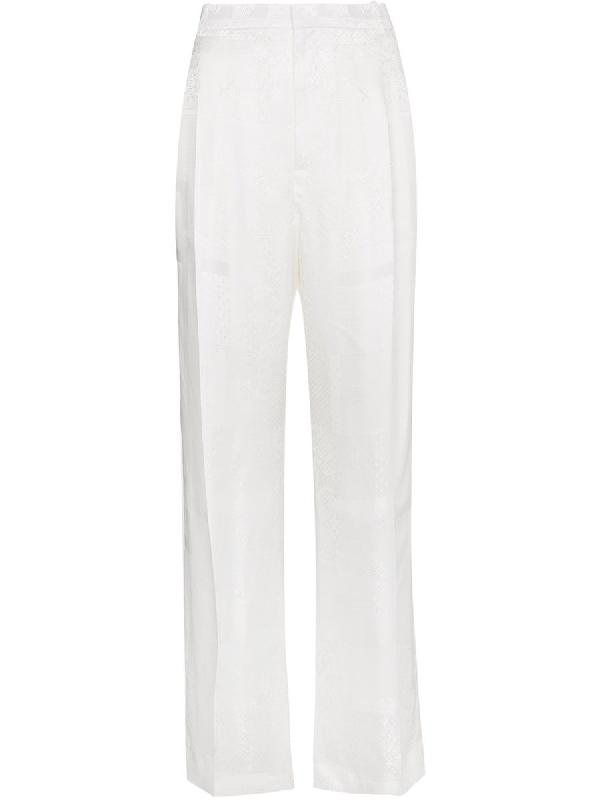 Givenchy Silk Wide Leg Trousers