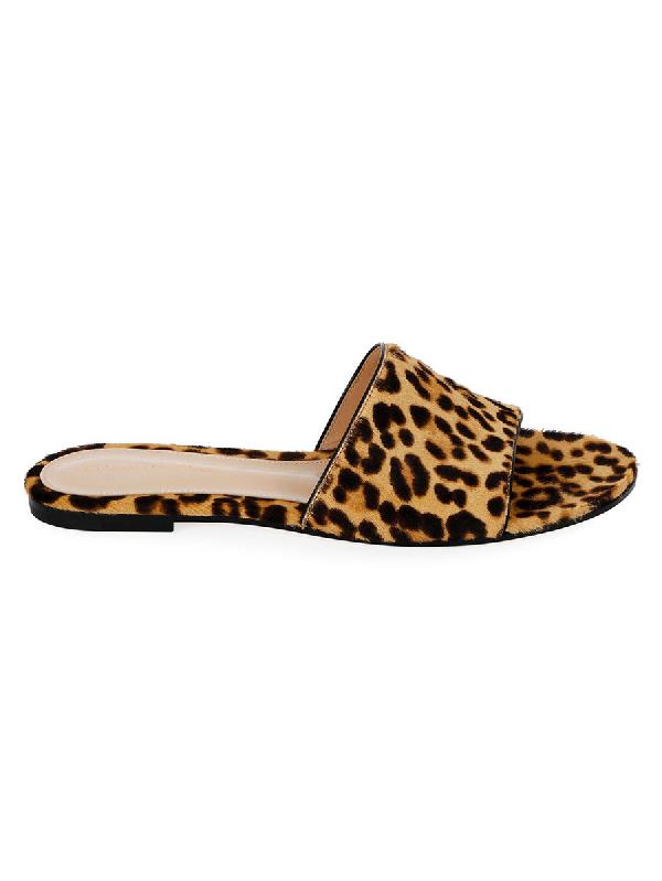 Gianvito Rossi Leopard Slide Sandals