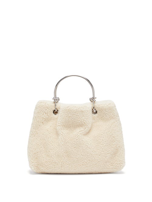 914c500095 Knotted-handle shearling bag