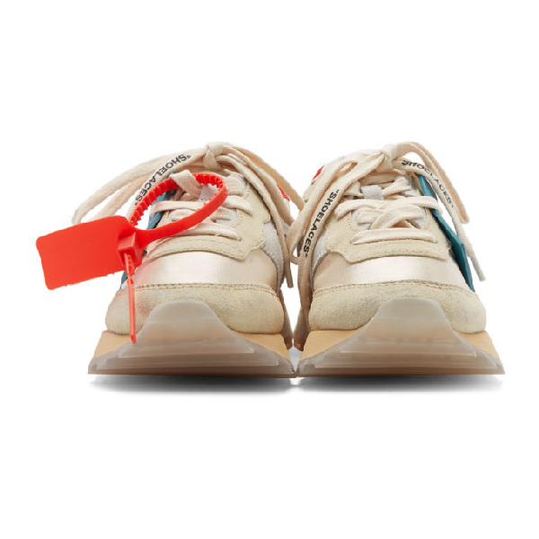 Off-White Hg Runner Low-Top Suede Sneakers In White