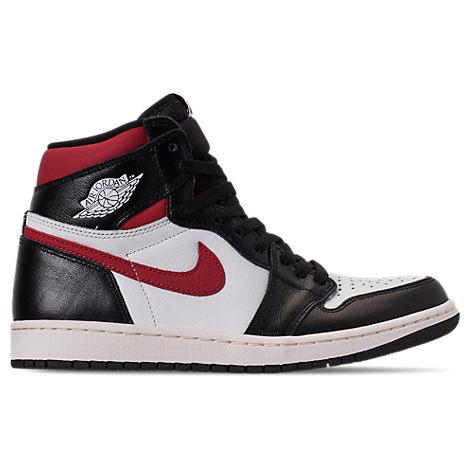 Men's Air Jordan Retro 1 High Og Casual Shoes In Black