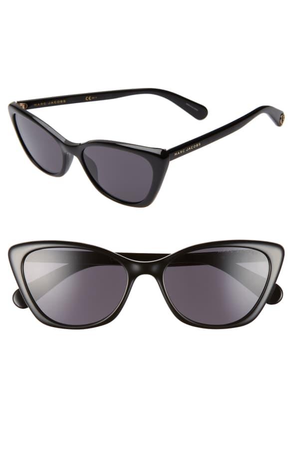 652fd27e1f80 Marc Jacobs 56Mm Cat Eye Sunglasses - Black   ModeSens