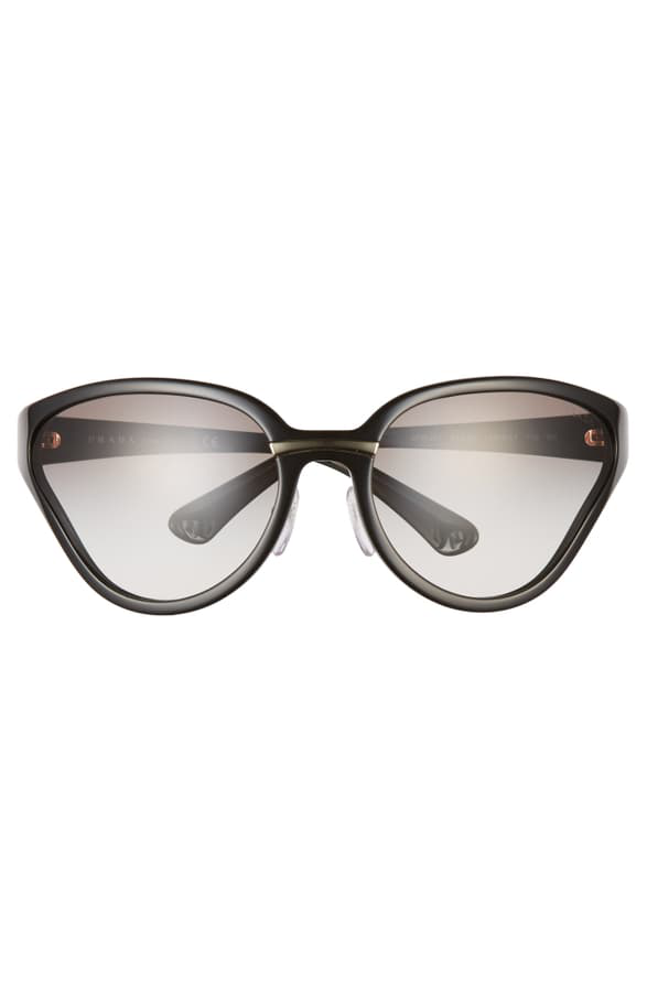 339fad0ab508 Prada 68Mm Oversize Wrap Butterfly Sunglasses - Black/ Black Solid ...