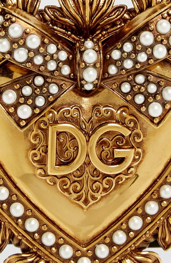 Dolce & Gabbana Dolce&Gabbana Devotion Heart-Buckle Belt In Black