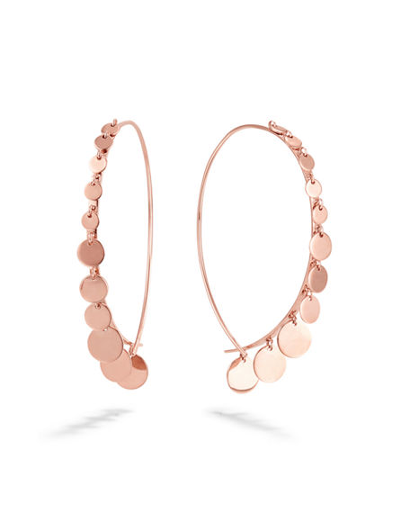 7942925f22656 Small 14K Upside Down Dangle Earrings in Rose Gold
