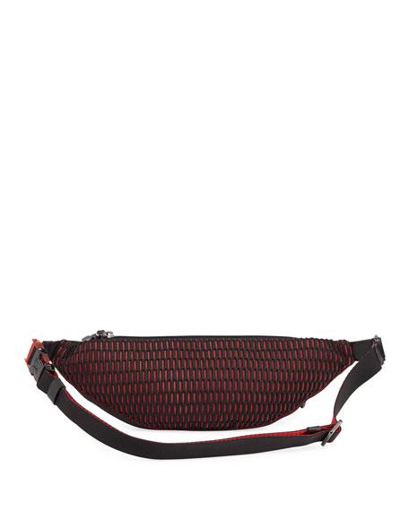 Christian Louboutin Men's Paris Nyc Spike Belt Bag/Fanny Pack In Black