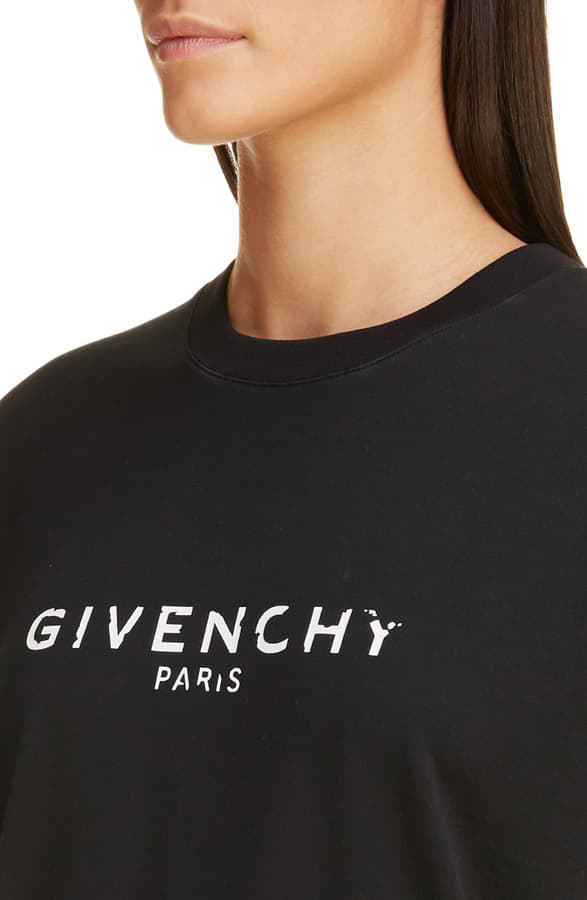 Givenchy Vintage Logo Printed Jersey T-Shirt In Black