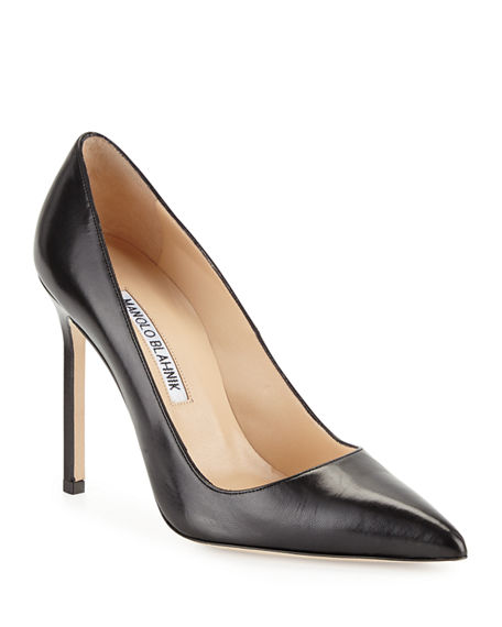 MANOLO BLAHNIK BB LEATHER 105MM PUMP,PROD220060486