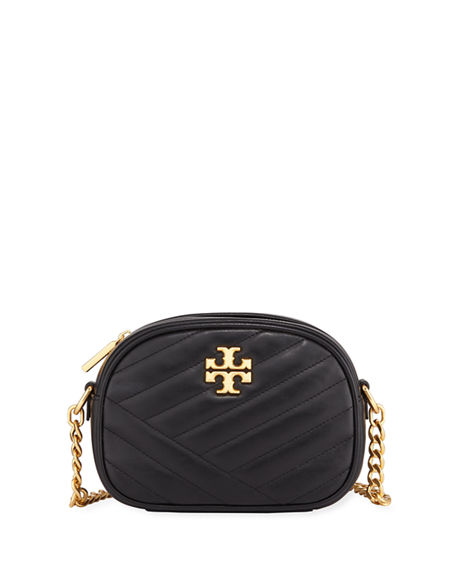 38ae4551bbb1 Tory Burch Kira Quilted Leather Xs Crossbody Bag In Black   ModeSens