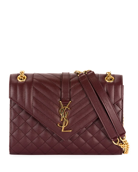 b35ba7f89b5 Saint Laurent V Flap Monogram Ysl Medium Envelope Chain Shoulder Bag -  Golden Hardware In 6475