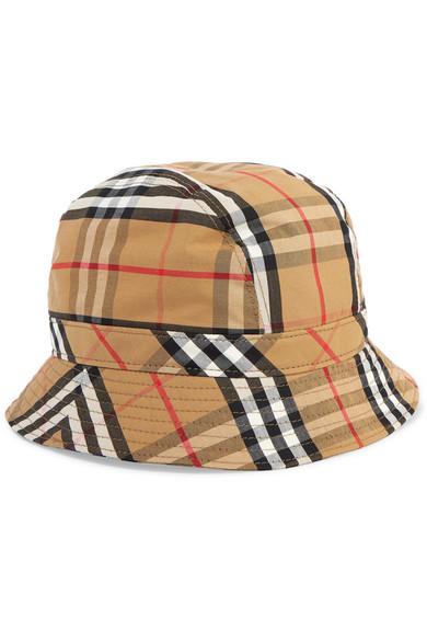 1dee13d154e388 Burberry Rainbow Stripe Vintage Check Bucket Hat In Camel | ModeSens