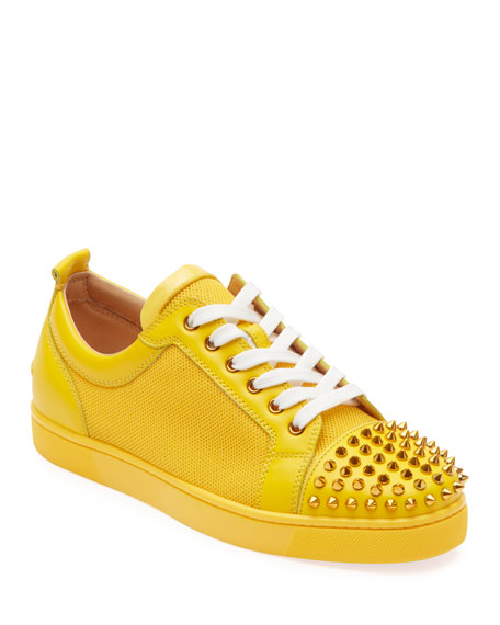 buy online 6cd58 940d4 Men's Louis Junior Spiked Sneakers in Yellow