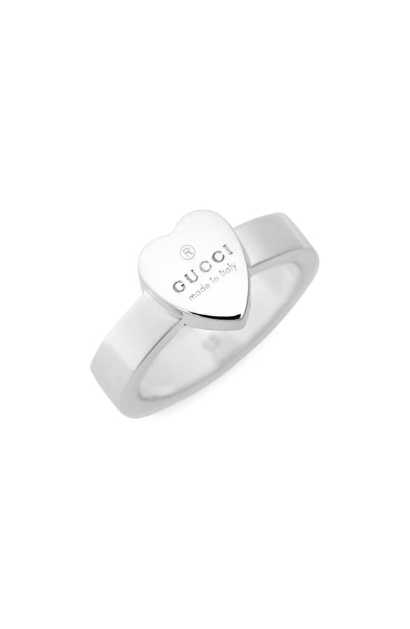 c9edd79f2 Gucci Trademark Heart Ring In Sterling Silver | ModeSens