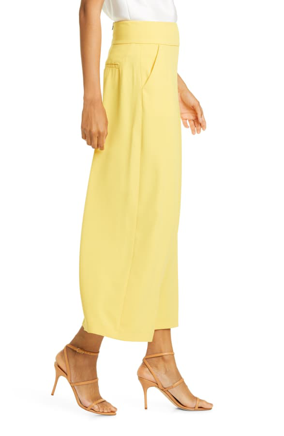 Alice And Olivia Alice+Olivia Cropped Wide Leg Trousers - Yellow
