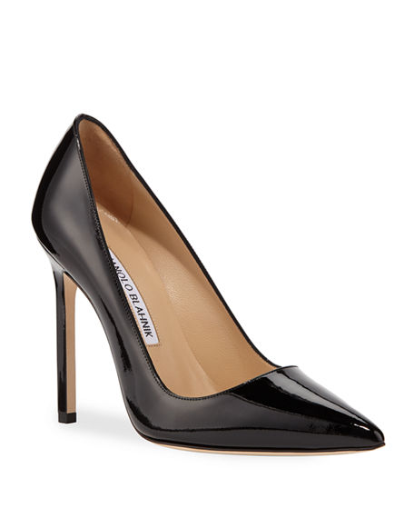 MANOLO BLAHNIK BB Patent 115mm Pump,PROD220930125