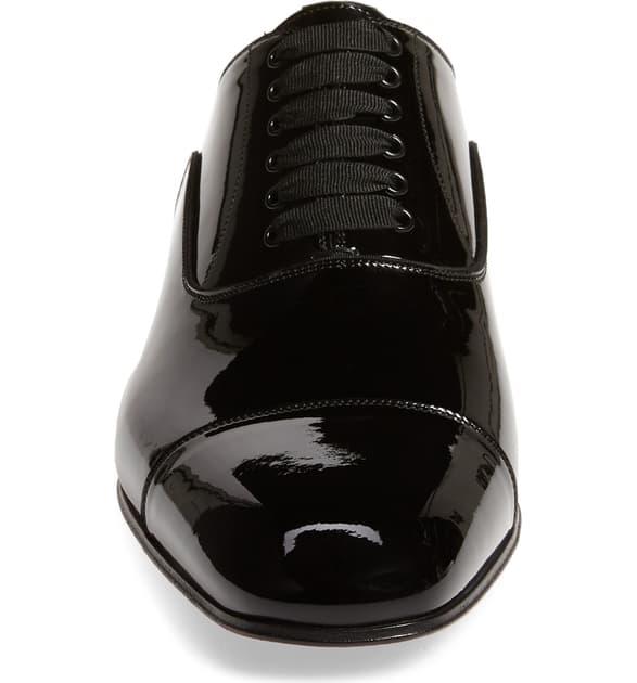 wholesale dealer 358b5 133e5 Greggo Patent-Leather Derby Shoes in Black