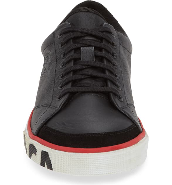 Balenciaga Match Leather Sneakers In Black