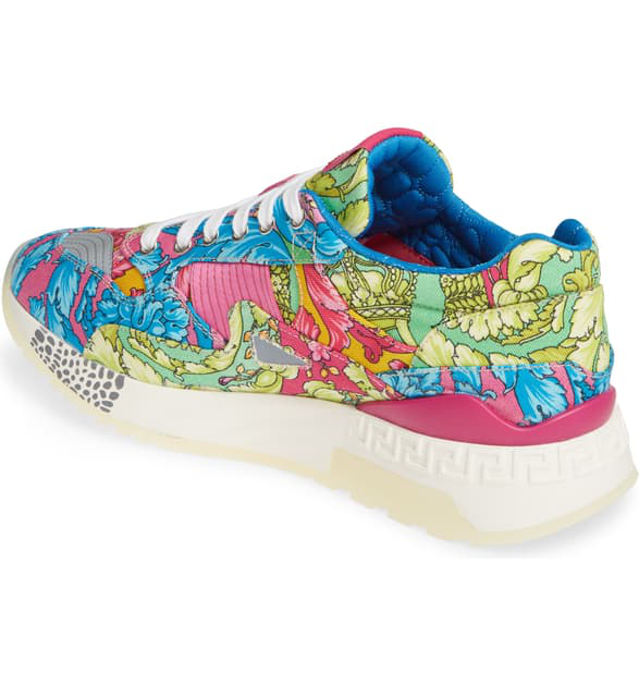 e17026369d Men's Barocco-Print Canvas Runner Sneakers in Kmcar Imprime/Multi