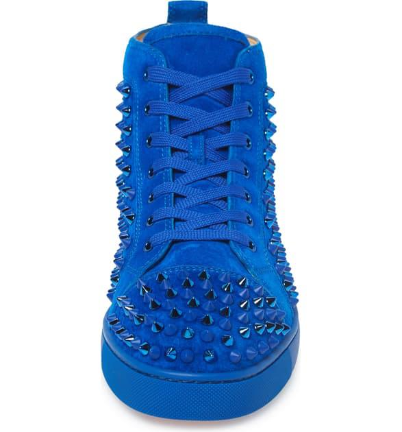 Louis Spikes High Top Sneaker In Blue