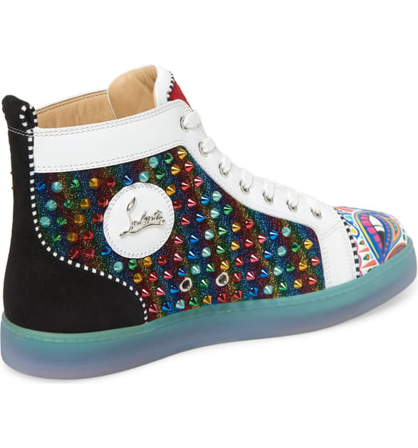 b05be0c4e11 Men's Tribalouis Multicolor Spiked High-Top Sneakers in Version Multi