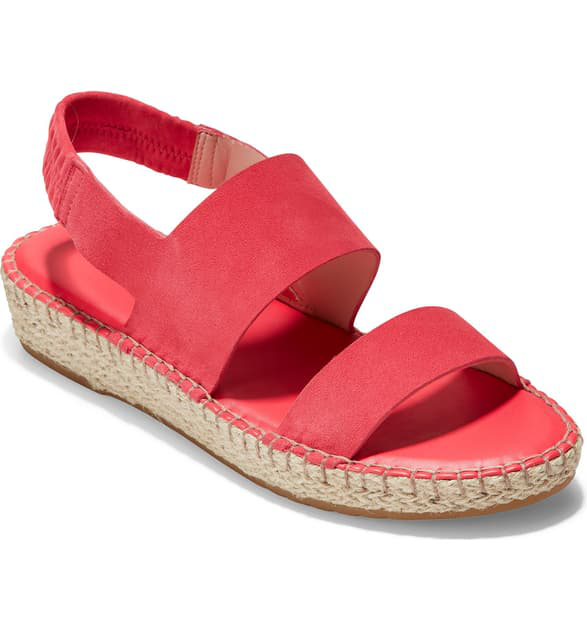 8a1c568bf5e Cloudfeel Espadrille Sandal in Teaberry Suede