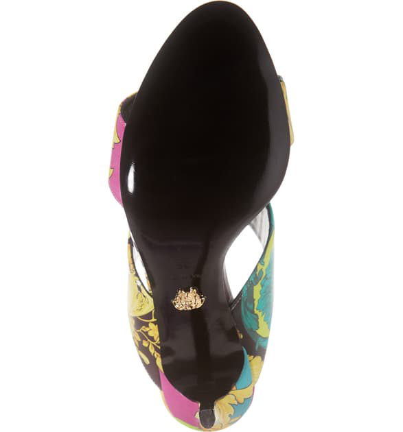 Versace First Line Voyage Barocco Slip-On Sandal In Yellow