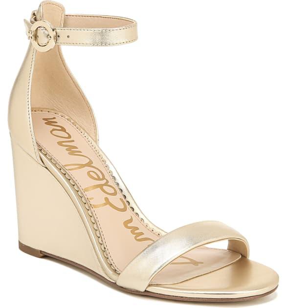 3e474c5fa7f Women's Neesa Wedge Heel Sandals in Molten Gold