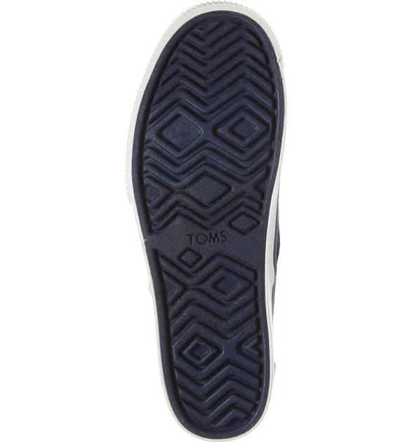 Toms Cordones Boardwalk Sneaker In Navy Heritage Canvas