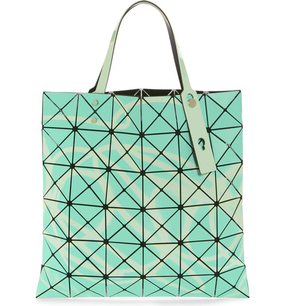 Neon Prism Tote - Green in Light Green