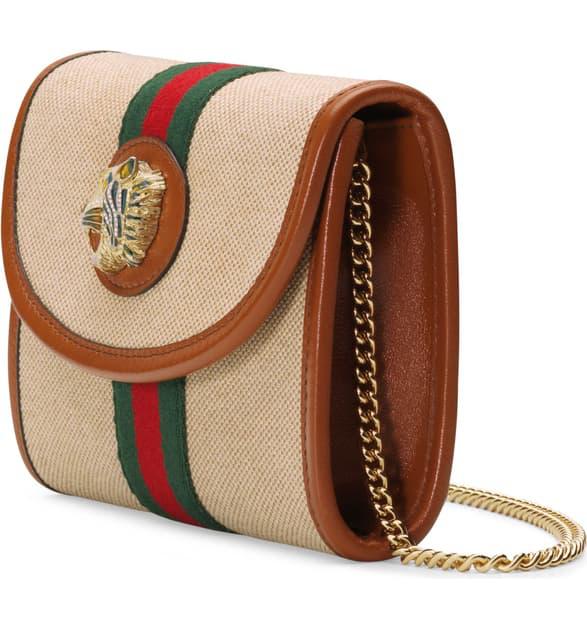 e93e16874 Gucci Mini Rajah Canvas Crossbody Bag - Beige In Brown | ModeSens