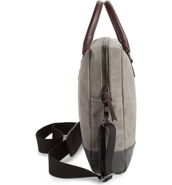 Ted Baker Pitza Faux Leather Document Bag - Grey