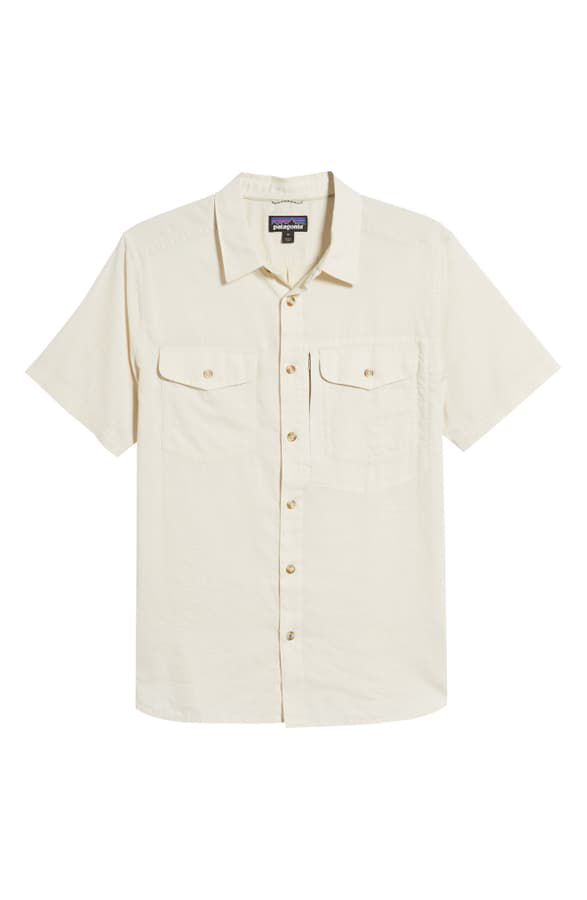 Patagonia Cayo Largo Ii Regular Fit Shirt In Chambray/ Pelican