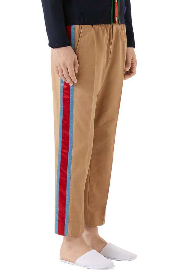befd2339b Gucci Striped Cotton Twill Pants - Beige, Khaki In Neutrals | ModeSens