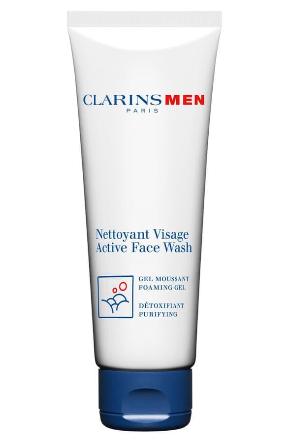 Clarins Men Active Face Wash Foaming Gel In Beige