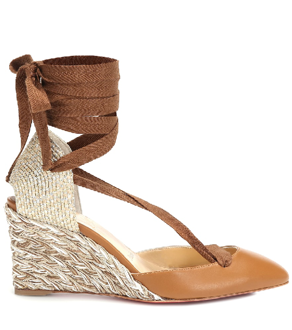5920a7d346a Noemia 70 Leather Wedge Espadrilles in Tan
