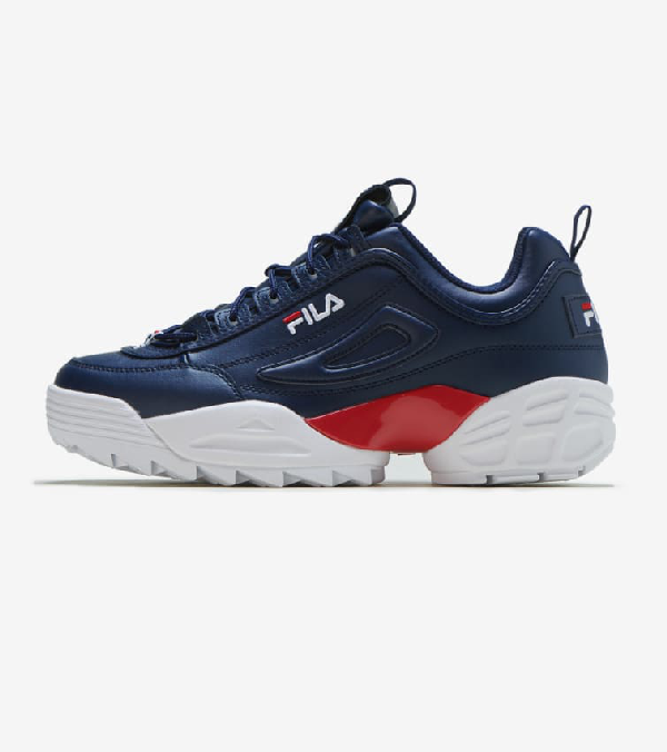 Disruptor Ii Lab Sneakers in Fila NavyWhiteFila Red