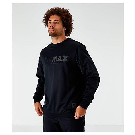 Nike Men's Sportswear Air Max Crew Sweatshirt In Black