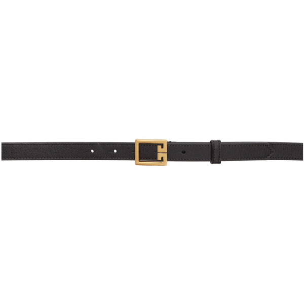 Givenchy Calfskin Leather Belt W/ Double-G Logo Buckle In Black