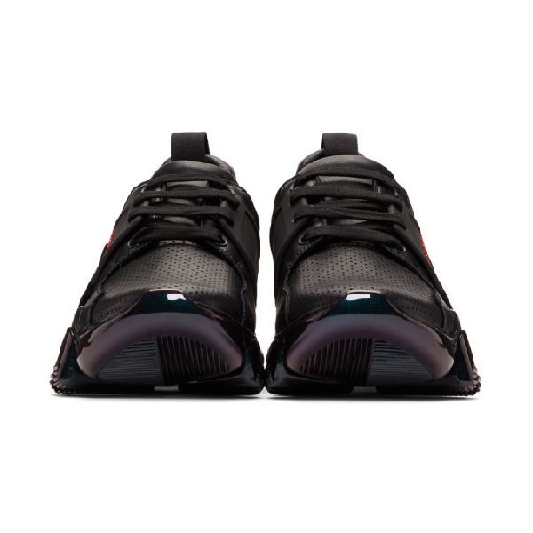 Givenchy Jaw Lug Sole Iridescent Sneakers In Black