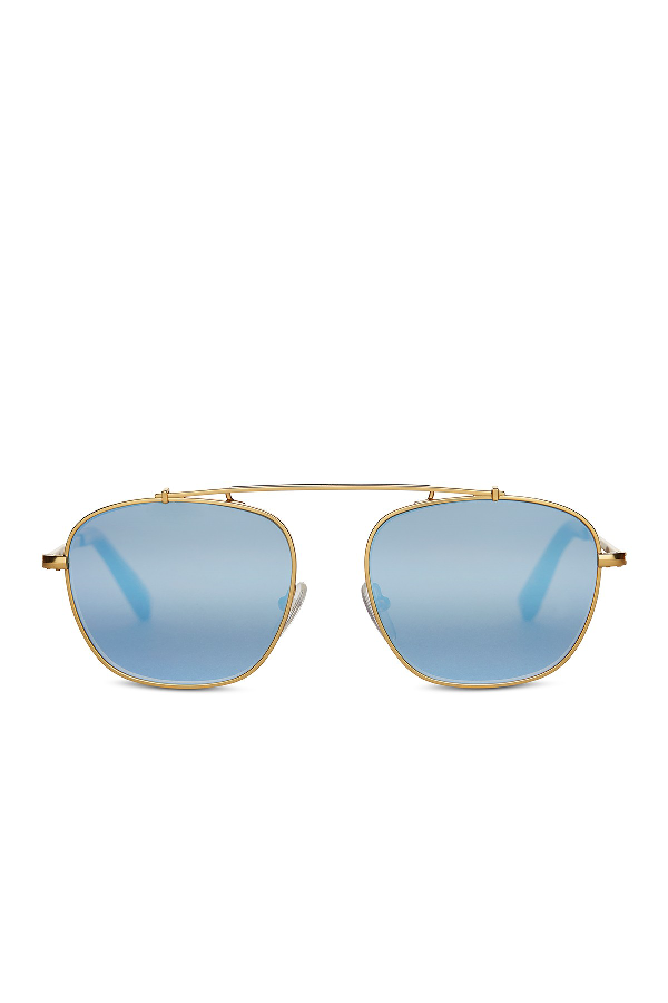 Toms Riley 53Mm Navigator Sunglasses In Gold