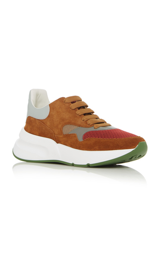 Alexander Mcqueen Suede Mesh And Leather Sneakers In Multi