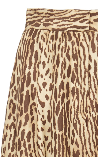 Zimmermann Printed Silk-Chiffon Wide-Leg Pants In Animal