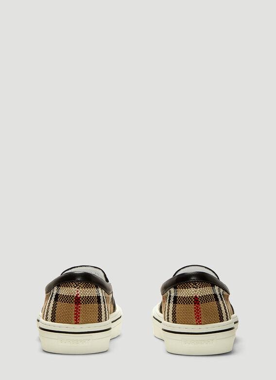 Burberry Women's Delaware Vintage Check Slip-On Sneakers In Neutrals