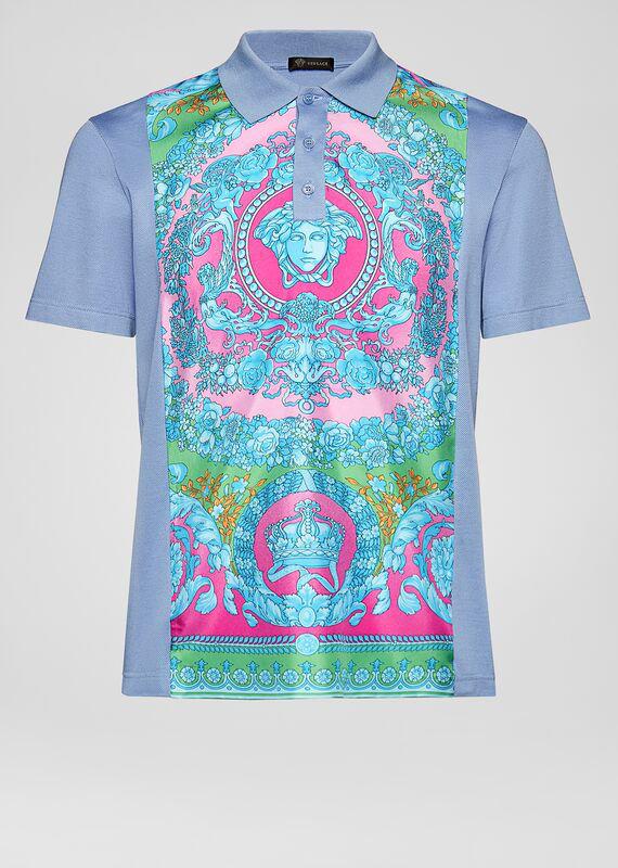 59b27c210c Fluo Barocco Silk Insert Polo Shirt in Print