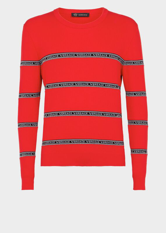 1262094f Nastro Versace Slim Fit Sweater in Red