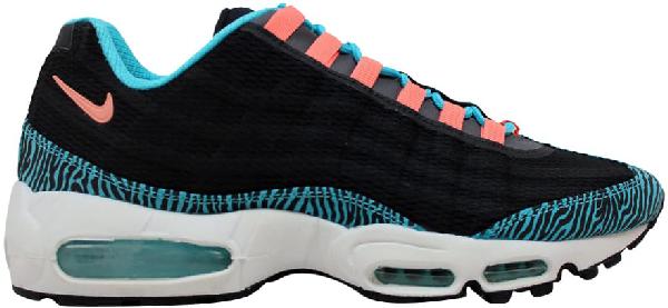 Pre Owned Nike Air Max 95 Premium Tape Zebra In Black Atomic Pink